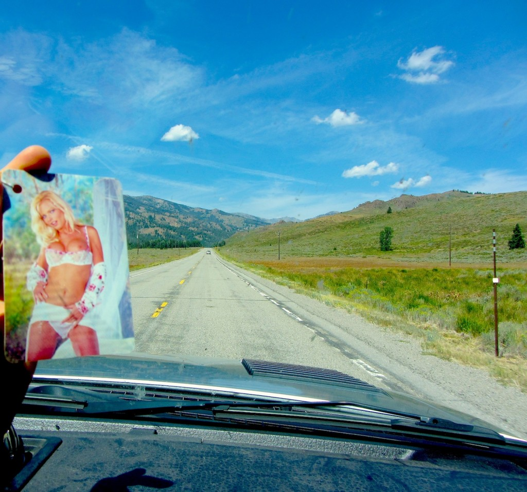 Cindy on the road with us!